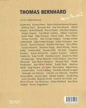 Thomas Bernhard - 4ème de couverture - Format classique
