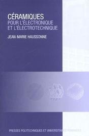 Ceramiques pour l'electronique et l'electrotechnique - Intérieur - Format classique