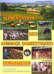 Alimentation des animaux domestiques t.2 ; la pratique - Intérieur - Format classique