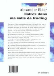 Entrez dans ma salle de trading guide de trading complet - 4ème de couverture - Format classique