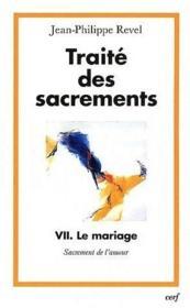 Traite Des Sacrements - Couverture - Format classique