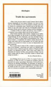 Traite Des Sacrements - 4ème de couverture - Format classique