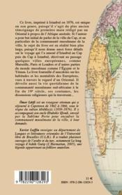 D'Istanbul à Capetown ; pérégrinations d'un turc en Afrique du sud (1862-1866) - 4ème de couverture - Format classique