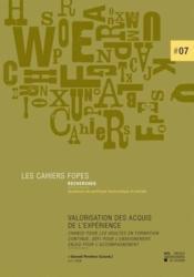 Valorisation Des Acquis De L'Experience - Couverture - Format classique