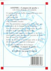 Guide Poche Arabe Marocain - 4ème de couverture - Format classique