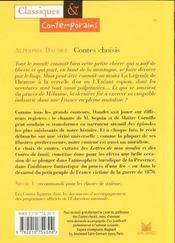 Contes choisis - 4ème de couverture - Format classique
