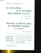 Nadja / Du Contrat Social - Couverture - Format classique