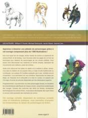 Les personnages ; héros de science-fiction, de comics et de mangas - 4ème de couverture - Format classique