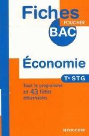 Economie ; Terminale Stg - Couverture - Format classique