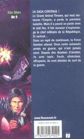 Star wars t.13 ; la croisade noire du jedi fou t.2 ; la bataille des jedi - 4ème de couverture - Format classique