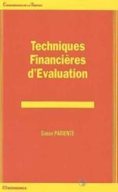 Techniques Financieres D'Evaluation - Couverture - Format classique