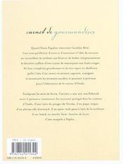 Carnet De Gourmandises - 4ème de couverture - Format classique