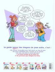 Le guide junior des dingues de jeux vide - 4ème de couverture - Format classique