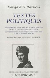 Textes politiques - Couverture - Format classique