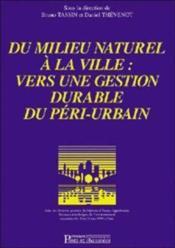 Du milieu naturel a la ville - Couverture - Format classique