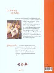 La Broderie Au Ruban - 4ème de couverture - Format classique