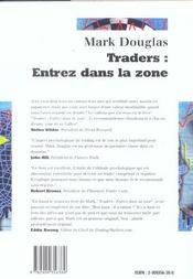 Traders : entrez dans la zone - 4ème de couverture - Format classique