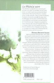 Le Phenix Vert - 4ème de couverture - Format classique