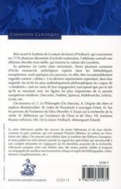Philosophes sans dieu ; textes athées clandestins du XVIII siècle - 4ème de couverture - Format classique