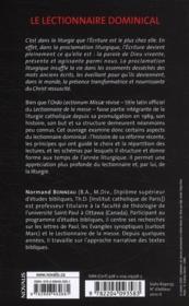 Le lectionnaire dominical ; parole ritualisée modèle pascal - 4ème de couverture - Format classique