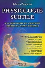 Physiologie subtile - Couverture - Format classique