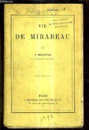 Vie De Mirabeau. - Couverture - Format classique