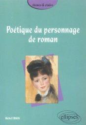 Poetique Du Personnage De Roman - Intérieur - Format classique