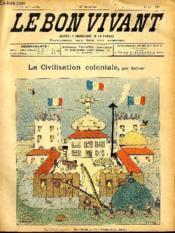 Le bon vivant n°287 - La civilisation coloniale - Couverture - Format classique