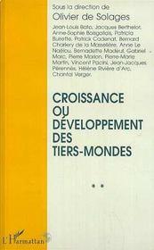 Croissance Ou Developpement Des Tiers-Mondes - Intérieur - Format classique
