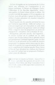 Cachan, la vérité ; le défi migratoire - 4ème de couverture - Format classique
