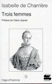 Trois Femmes - Couverture - Format classique