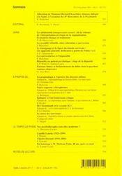 L'evolution psychiatrique t.66 - 4ème de couverture - Format classique