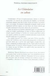 Chatelaine en sabots (la) - 4ème de couverture - Format classique