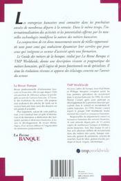Le guide des metiers de la banque - 60 metiers de la banque detailles en fiches - 4ème de couverture - Format classique