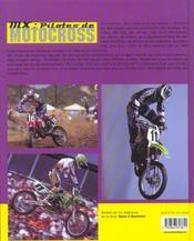 Mx-pilotes de motocross - 4ème de couverture - Format classique