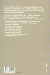 Écrits sur la Révolution ; anthologie - 4ème de couverture - Format classique