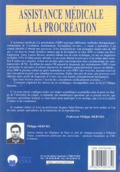Assistance Medicale A La Procreation - 4ème de couverture - Format classique