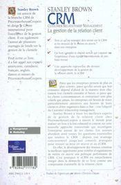 Evm Crm Gestion De La Relation Client - 4ème de couverture - Format classique