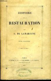 Histoire de la Restauration. TOME V - Couverture - Format classique