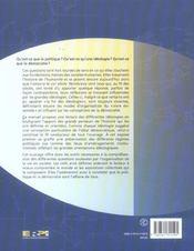 Idéologies, idéal démocratique et régimes politiques - 4ème de couverture - Format classique