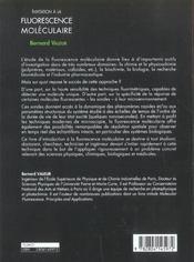Fluorescence moleculaire (la) - 4ème de couverture - Format classique