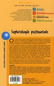 Sophrologie postnatale - 4ème de couverture - Format classique