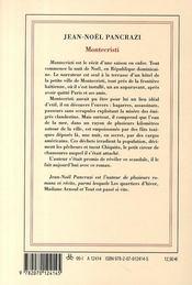 Montecristi - 4ème de couverture - Format classique