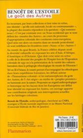 Le goût des autres ; de l'exposition coloniale aux arts premiers - 4ème de couverture - Format classique