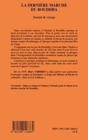 La dernière marche du Bouddha ; journal de voyage - 4ème de couverture - Format classique