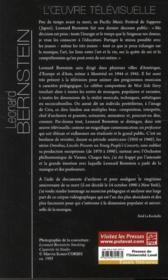 Léonard Bernstein ; l'oeuvre télévisuelle - 4ème de couverture - Format classique