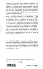 L'Autobus Et Paris ; Histoire De Mobilites - 4ème de couverture - Format classique
