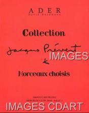 COLLECTION JACQUES PREVERT. MORCEAUX CHOISIS. FATRAS. SUCCESSION JACQUES PREVERT. {PICASSO. BRASSAI. MIRO. CHAGALL. DOISNEAU. CHARLES CHAPLIN. PAPART. MONTAND ,,,]. 09/06/2010. (Poids de 394 grammes) - Couverture - Format classique