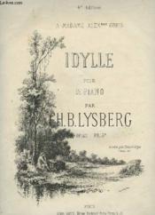 Idylle Pour Piano. - Couverture - Format classique