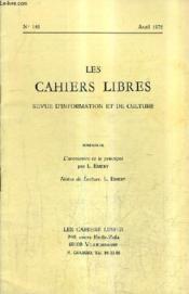 LES CAHIERS LIBRES REVUE D'INFORMATION ET DE CULTURE N°141 AVRIL 1976 - L'accessoire et le principal - Notes de lecture. - Couverture - Format classique
